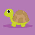 Turtle with shadow on purple background Stock Images