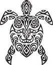 Turtle tatto design Stock Images