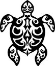 Turtle tattoo tribal Royalty Free Stock Photography