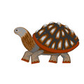 A turtle on a white background vector art illustration Royalty Free Stock Photography