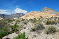 Turtlehead peak in red rock canyon las vegas nevada the image shows upper right national conservation area near the tan is Royalty Free Stock Photos
