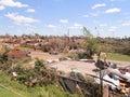TUSCALOSA, USA 28 APRIL 2011, damage of the devastating Tornado Royalty Free Stock Photo