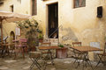 A tuscan bar outdoor of typical Stock Photo