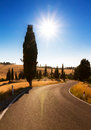 Tuscan country road Royalty Free Stock Photo