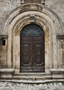 Tuscan door a found in montepulciano italy Stock Images