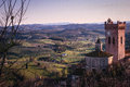 Tuscan hills from san miniato a view of country at sunset Royalty Free Stock Photography