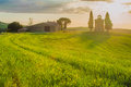 Tuscan Landscape With A Chapel...