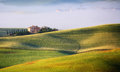 Tuscan Landscape in Sunrise Light Royalty Free Stock Photo