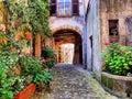 Tuscan lane Royalty Free Stock Photo