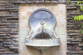 Tuscan Style Wall Water Fountain Horizontal Royalty Free Stock Photo