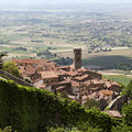 Tuscan Village of Cortona Royalty Free Stock Images