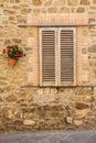 Tuscan window Royalty Free Stock Photo