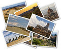 Tuscany collage of photos of italy on the white background Stock Photo