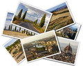 Tuscany collage of photos of italy on the white background Stock Image