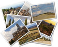 Tuscany collage of photos of italy on the white background Stock Images