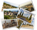 Tuscany collage of photos of italy on the white background Royalty Free Stock Photo