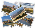 Tuscany collage of photos of italy on the white background Royalty Free Stock Image