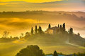 Tuscany at early morning Royalty Free Stock Image