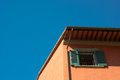 Tuscany house in clear blue sky background pisa italy Royalty Free Stock Image