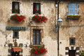 A Tuscany house wall Stock Image