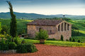 Tuscany italy landscape in the ranch house Stock Photos