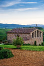 Tuscany italy landscape in the ranch house Royalty Free Stock Photography