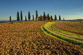 Tuscany landscape panorama hills and meadow toscana italy europe Stock Photo