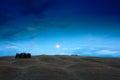 Tuscany Night Landscape, Moon ...