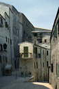 Tuscany old town detail group of stone made houses on street Royalty Free Stock Photography