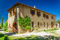 Tuscany rural house in summer italy Stock Images