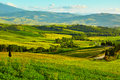 Tuscany, rural sunset landscape. Royalty Free Stock Photo