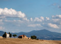 Tuscany small church in fields Royalty Free Stock Images