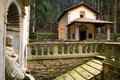 Tuscany vallombrosa chapel italy florence vallombrsa forest the in the bush Royalty Free Stock Image