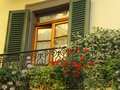 Tuscany window with shutters Royalty Free Stock Photo