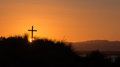 Tusket hill cross on a as the sun rises for anther day Royalty Free Stock Photo