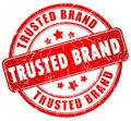 Tusted brand stamp Stock Image
