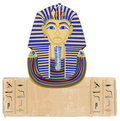 Tutankhamun and Hieroglyphs Royalty Free Stock Images