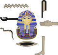 Tutankhamun and Hieroglyphs Stock Photo