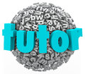Tutor Letter Ball Sphere Learning Lessons Private Teaching Writi Royalty Free Stock Image