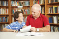 Tutoring From Dad Royalty Free Stock Image
