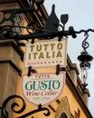 Tutto Italia, Italian Restaurant in Italy at Epcot, Orlando, Florida. Royalty Free Stock Photo