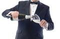 Tuxedo Pouring Champagne