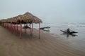 Tuxpan veracruz a beach taken on an overcast gloomy day Stock Photography