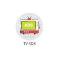 TV Ads Advertisement Marketing Promotion Icon