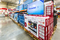 stock image of  TV aisle in a Costco store