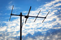 Tv antenna background cloudy sky Stock Images