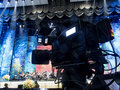 Tv camera in a concert hal. Professional digital video camera.