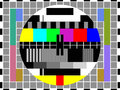 Tv color test pattern card Stock Photo