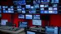 Tv Control Room Royalty Free Stock Photo
