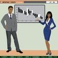 TV finance news anchors Royalty Free Stock Photo